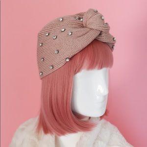 Rhinestone Beanie Pink